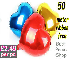 "32"" inch GIANT HEART FOIL BALLOON WEDDING VALENTINES BIRTHDAY PARTY BALLOONS"