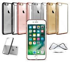 """Apple iPhone 6s (4.7"""") - Clear Gel Electroplated Chrome Bumber Case"""