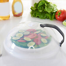 New Microwave Food Dish Cover Clear Steam Vent Splatter Lid Kitchen Tool Healthy