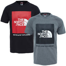 The North Face Men's T-Shirt Red Box Men Shirt Upper Part Label S up to XXL NEW