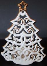 "Lenox Christmas Tree Tealight Candle Holder 4"" ~ NEW in Box!"