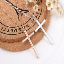 Religious Christian Fine Stainless Steel Cross Crucifix Pendant Necklace Chain