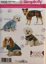 Simplicity  3939  Pattern For Dog Clothes  Woofy Wear By Wendy  NIP