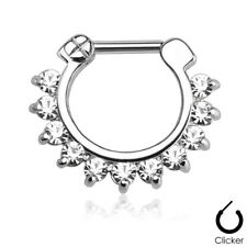 Unisex Nose Piercing Septum Ring Clicker Nose Ring Made of Stainless Steel