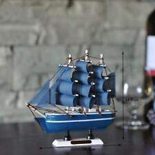 Sailing Tall Boat Wooden Model Boat Assembled Decoration Boat Gift Toy NEW