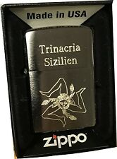 Zippo Sicily Sicilia Trinacria Petrol Sturm Lighter with or Without Gift Set