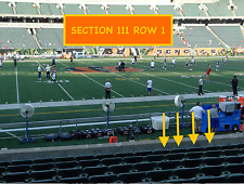 4 Front row Chicago Bears at Cincinnati Bengals tickets in section 111 row 1
