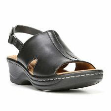 NaturalSoul by naturalizer Seleste Womens Leather Wedge Sandals size 7 NEW