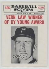1961 Nu-Cards Baseball Scoops #406 Vern Law Pittsburgh Pirates Card