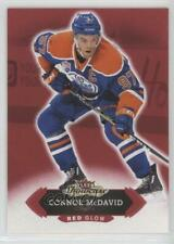 2016 Upper Deck Fleer Showcase Red Glow #49 Connor McDavid Edmonton Oilers Card