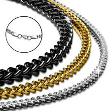King's Chain Necklace Curb Chain Men's Stainless Steel Chain Square Bracelet