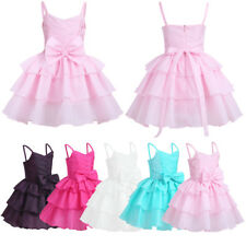Flower Girl Princess Dress Kids Baby Birthday Party Wedding Pageant Formal Dress