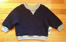 NWT Boy's Old Navy Blue Sherpa Pullover w/Gray Trim - Sizes 12-18 Months, 2T, 5T