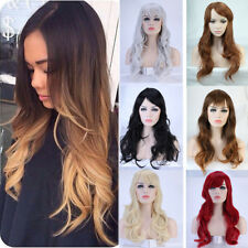 """Synthetic 27.5"""" Daily Full Wigs Curly Wavy Straight Heat Safe Costume Party Vgf"""
