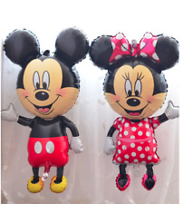 Disney Minnie RED PINK & Mickey Mouse Face Foil Balloons Decoration​ Party Props
