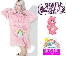 Iron Fist Care Bears Cheer Bear Pink Rainbow Slouch Sweater XS-XL/UK6-UK14