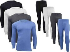 MENS THERMAL UNDERWEAR LONG SLEEVE VEST TOP & LONG JOHNS FULL SET ALL SIZES