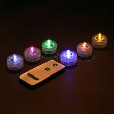 12x Waterproof Submersible LED Lights Festival Xmas Wedding Party Decor w Remote