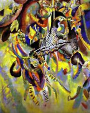"""Abstract Art """"Fugue"""" by V. Kandinsky. Fine Art Repro Made in U.S.A Giclee Prints"""