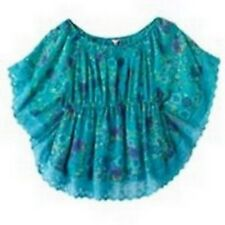 Candies Blue Floral Butterfly Lace Blouse Cami Top Set Girls 7-16 XL 16