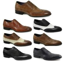 Gucinari PARMA Mens Leather Italian Office Evening Formal Lace Up Brogue Shoes