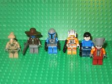 Lot of 6 Lego Star Wars minifigures minifigs cad bane mandalorian x wing fighter