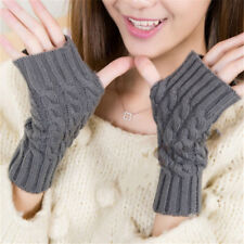 Crochet Knitting Fingerless Women Arm Winter Gloves Hand Warmer Gloves Mitten