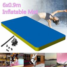 6M Inflatable Gym Mat Air Track Floor Tumbling Gymnastics Cheerleading Pad+Pump