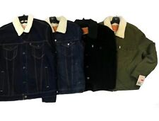 Levi's Men's Twill Denim Sherpa Trucker Jackets Many Colors and Sizes NWT