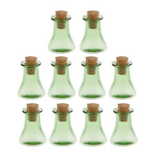 10 Pcs Triangle Cork Wishing Bottle Necklace Glass Bottle DIY Charm Pendant