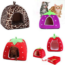 Strawberry Pet Dog Cat Bed Durable House Kennel Doggy Puppy Cushion Basket ltm