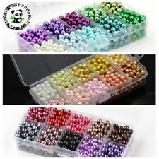 6mm 550pcs Mixed Color Glass Round Pearl Beads For Jewelry Making
