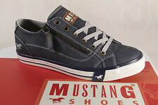 Mustang Canvas Lace Up Sneakers Low Shoes Blue, RV Rubber Sole 1146 NEW