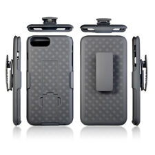For Apple iPhone X / 8Plus / 7 Plus Slim Holster Shell Case with Belt Clip Black
