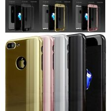Ultra Thin Hybrid 360° Hard Mirror Case Tempered Glass Cover For iPhone 6 7 Plus