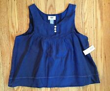NWT Girl's Old Navy Sleeveless Blue Crinkle Top - Lined -  Sizes 5, 10-12, 14