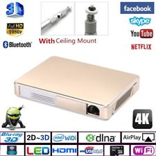 NEW DLP 7000 LUMENS ANDROID 4K VIDEO PROJECTOR 1080P HD LED THEATER CINEMA HDMI