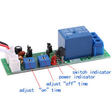 DC 5/12/24V Adjustable Cycle Trigger Delay Timing Timer Relay On/Off Switch New