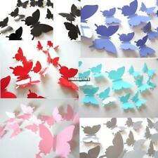 12Pcs 3D Butterfly Wall Sticker Room Removable Decal Decor Art Mural DIY ONMF