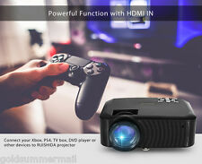 RUISHIDA 20I 2000 Lumens LCD Projector 800x480 Pixels with IN USB SD for Home