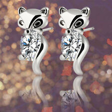 Plated Silver Gold Crystal Earring Classic Alloy Animal Fox Stud Earrings