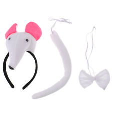 Children Animal Costume Accessory Mouse Headband Tails Bow Tie Fancy Dress Props