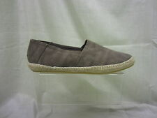 Mens Spot On Slip on Canvas Shoe,Brown, F2097