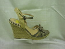 Ladies Savannah Slingback Open Toe Wedge Sandal, Pewter, L6055