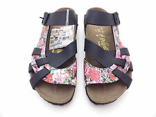 Papillio by Birkenstock PISA Bloomy Red/Black Narrow Width 36 Ladies 5