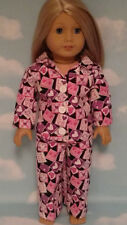 """Pajamas handmade for 18"""" American Girl Doll to fit 18 inch Doll Clothes 403a"""