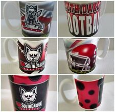University of South Dakota USD Coyotes Ceramic Mugs New