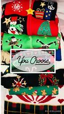 Men's and Women's Ugly Christmas Sweaters Large Selection