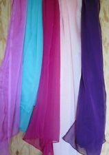 Scarf 202 Georgette Dupatta Chunni Wrap Solid Assorted Colors