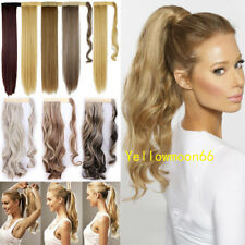 Wrap Around Hair Knot Ponytail Clip in Hair Extensions Real Thick As Human Hair